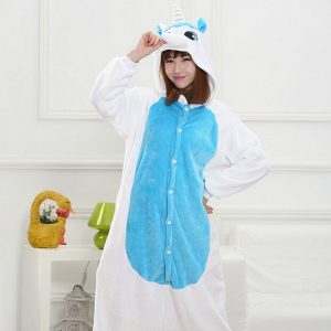 Blue and White Unicorn Onesie