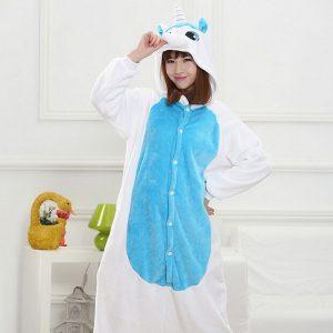 Blue and White Unicorn Onesie