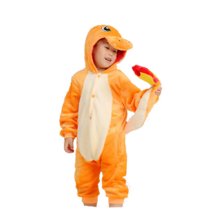 Boy in Charmander Onesie