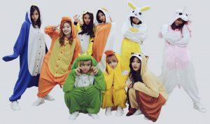 Korean Girl Group In Onesies