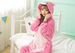 Girl in Onesie Pyjama