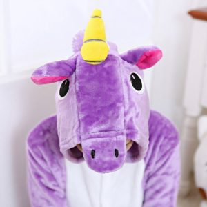 Purple Unicorn Onesie Cute